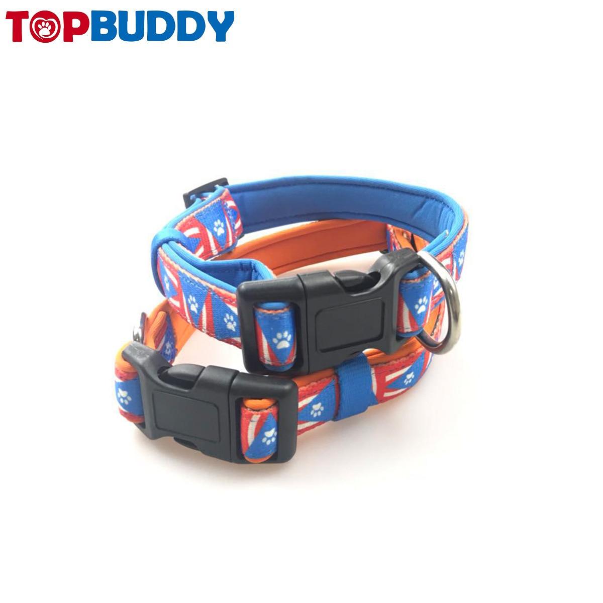 Release Buckle Diving Cloth Pet Collar Neoprene Pet Collar Waterproof Dog Chain Cute Pet Supplies