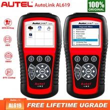 Autel otomatik bağlantı AL619 teşhis otomatik OBD2 tarayıcı araç teşhis aracı motor, ABS,SRS otomatik çoklu dil araba otomotiv tarayıcı