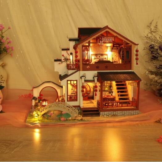 chinese style diy doll house furniture assemble wooden miniature dollhouse diy dollhouse christmas gift toys for children doll houses aliexpress chinese style diy doll house furniture assemble wooden miniature dollhouse diy dollhouse christmas gift toys for children