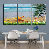 3 Pieces Modern Canvas Wall Art Beach Scenery Pictures HD Printed Painting Poster for Living Room Modern Artwork Home Decor