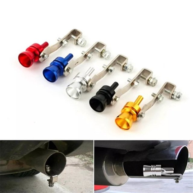 Universal Turbo Sound Color Auto Muffler Exhaust Pipe Whistle Simulator S/M/L/XL Car Tuning Turbo Whistler 1