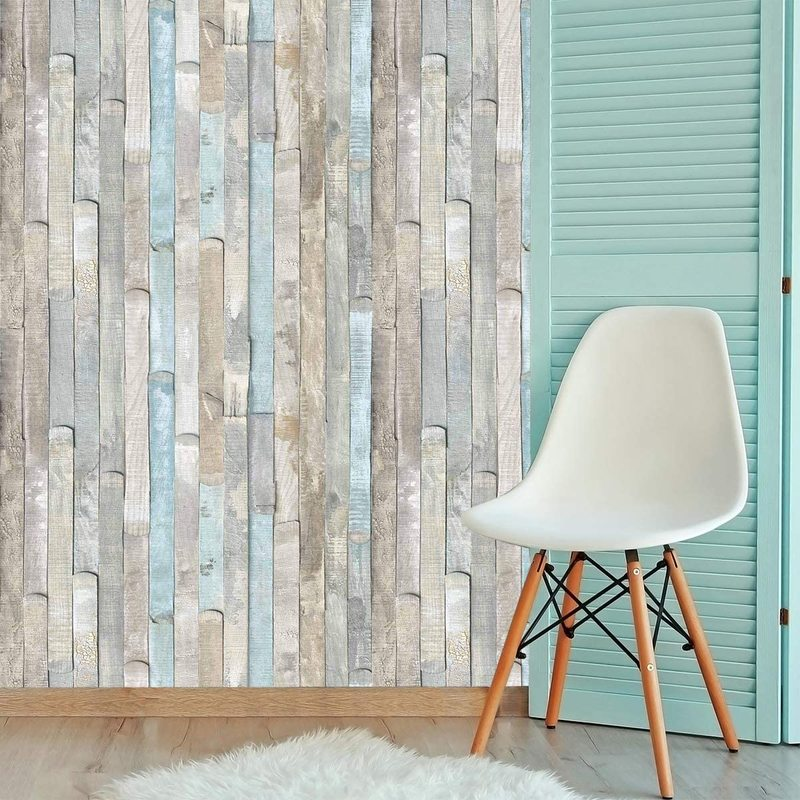Home Decor 3D PVC Wood Grain Wall Stickers Paper Brick Stone Wallpaper Self-Adhesive Living Room Bedroom Kitchen Decoration