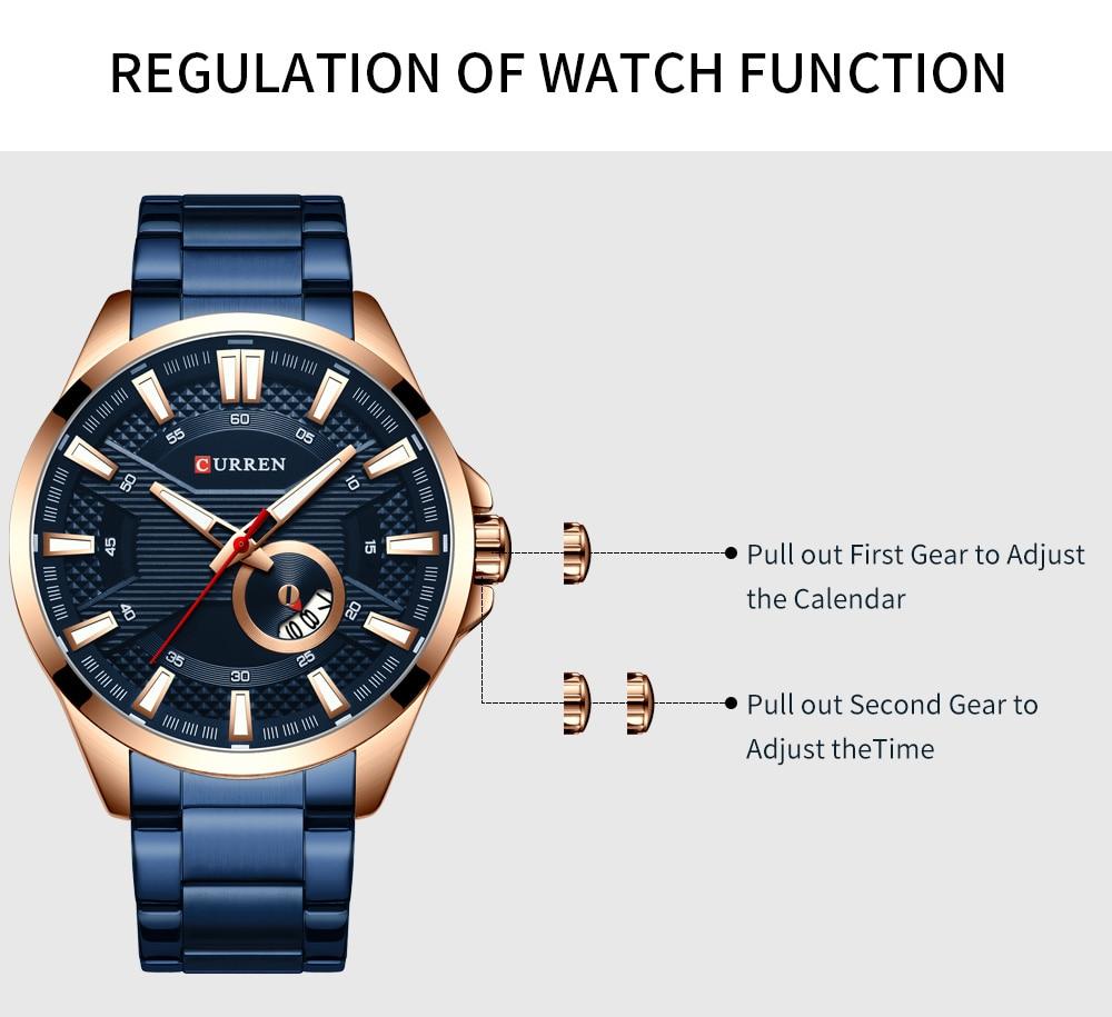 H22b282f519d5487596f0bb8b89a4b02eM New Stainless Steel Quartz Men's Watches Fashion CURREN Wrist Watch Causal Business Watch Top Luxury Brand Men Watch Male Clock