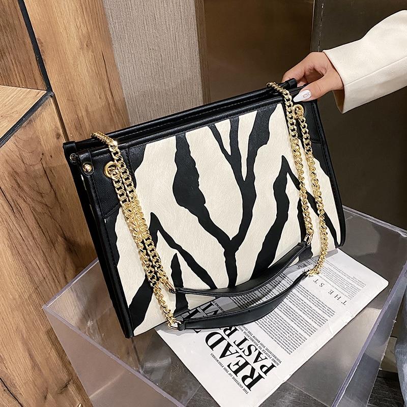 с доставкой Zebra Pattern Design Small Crossbody Bags Women 2020 Winter Shoulder Handbags and Purses Women's Classic Hand Bag