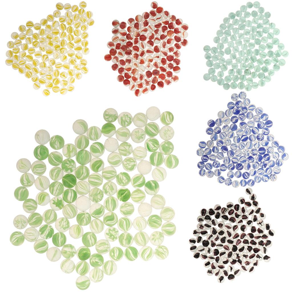 100 Pieces Of 16mm Colored Glass Marbles, Kids Traditional Ball Game Toy Vase Fish Tank Decoration Outdoor Fun Sports Toy Balls