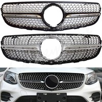 fit for Mercedes Benz W253 GLC Sports Diamond Style Front Grill Black Silver GLC200/250 2016 2017