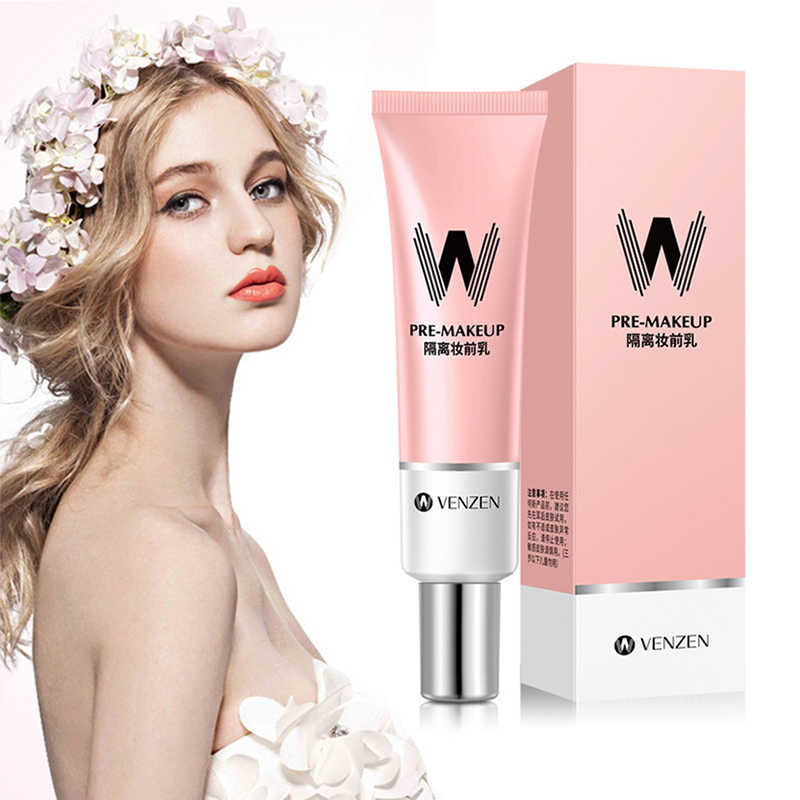 VENZEN Primer Foundation Makeup Base Liquid Cover Concealer Longlasting Makeup Shrink Pore Skin Care Foundation Korea Cosmetics
