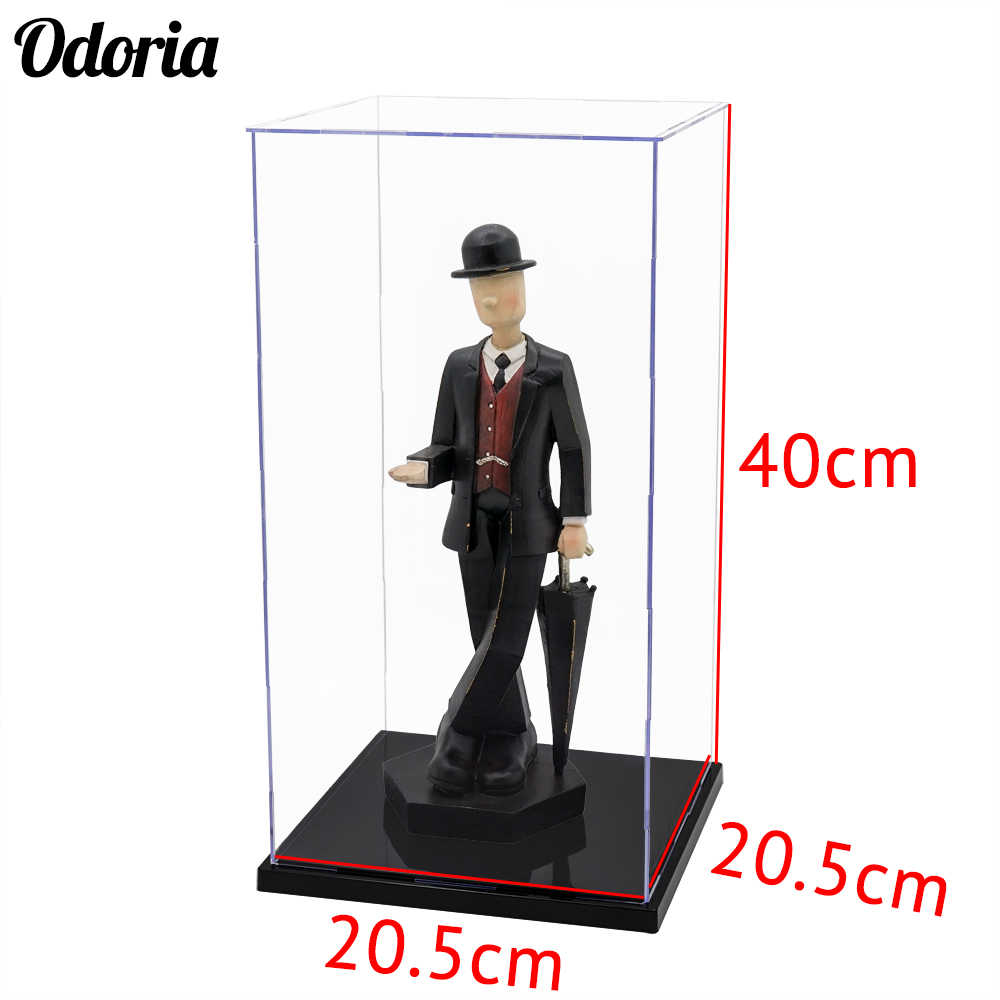 Odoria 40cm H Self-Assembly Acrylic Display Case Perspex Box Dustproof Protection Collectibles Big Size
