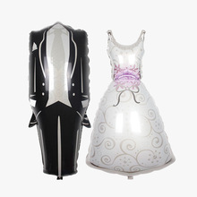 Hot style in large number to the bride and groom wedding dress balloon decoration products