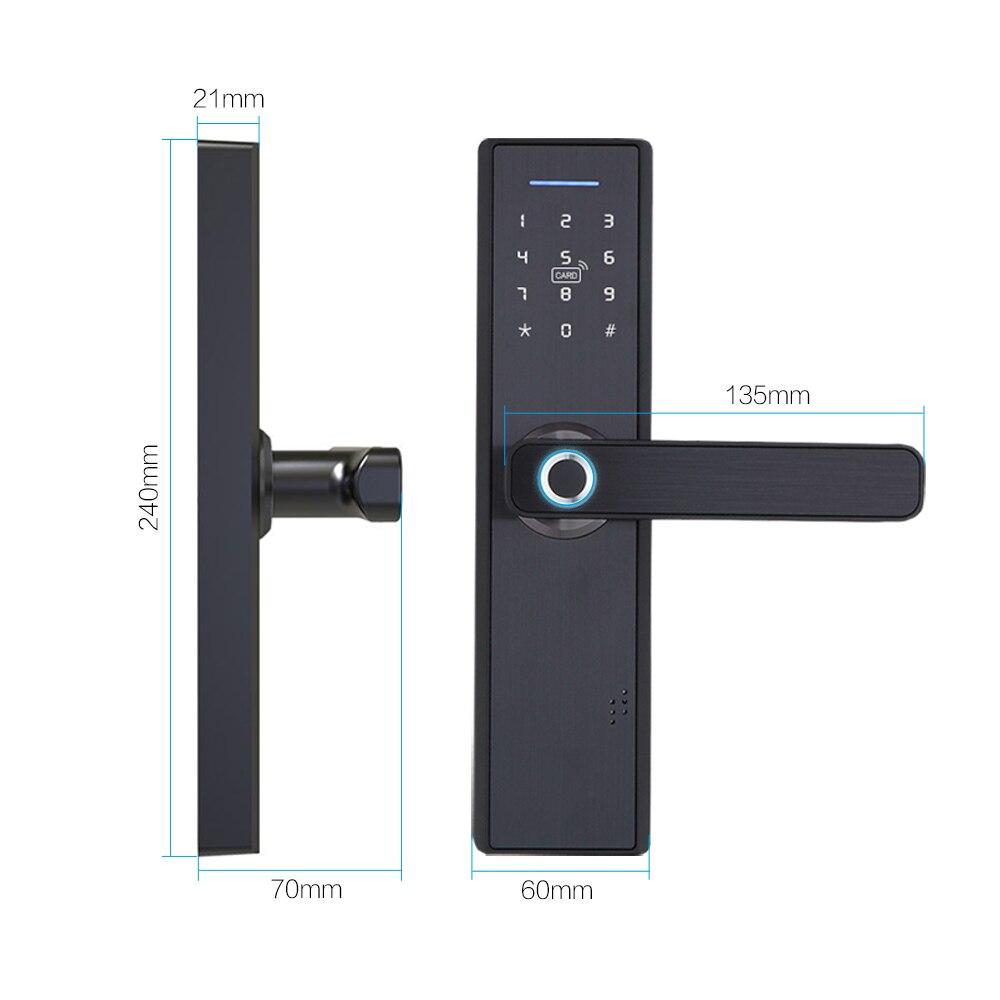 Image 4 - WIFI App Electronic Door Lock, Intelligent Biometric Door Locks Fingerprint, smart wifi Digital Keyless door lock with Gateway-in Electric Lock from Security & Protection