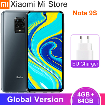 "Global Version Xiaomi Redmi Note 9S 4GB RAM 64GB ROM Smartphone Snapdragon 720G 5020mAh 48MP+16MP Camera 6.67"" Display Note 9 S"