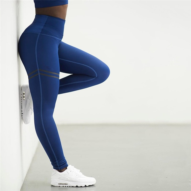 Image 3 - Fashion Casual Sport High Waist Leggings High Quality Offset Printing Leggings Slim Elasticity Fitness Leggins Women LeggingsLeggings   -