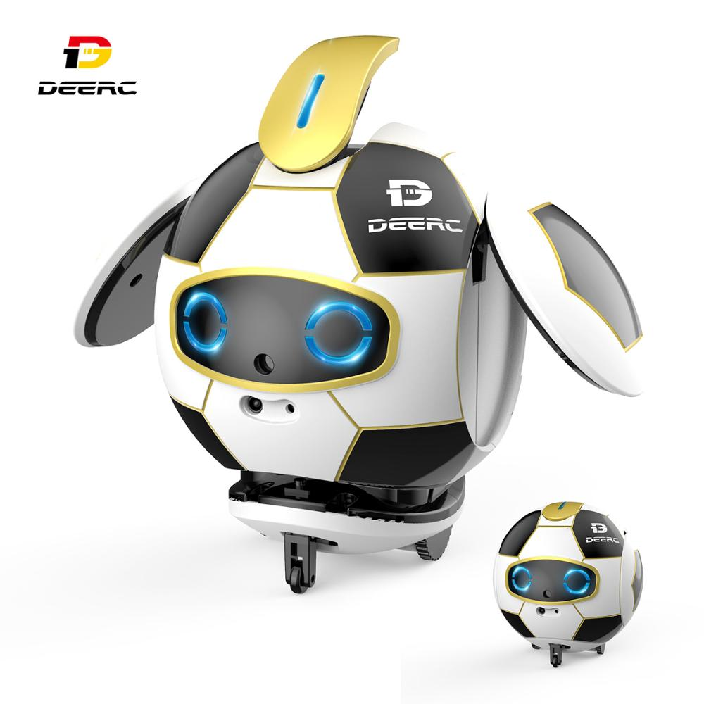 DEERC Robot Toy Smart Soccer Robot Toys Intelligent Touch Deformation Sound Action Obstacle Avoidance Robot Inteligente For Kids