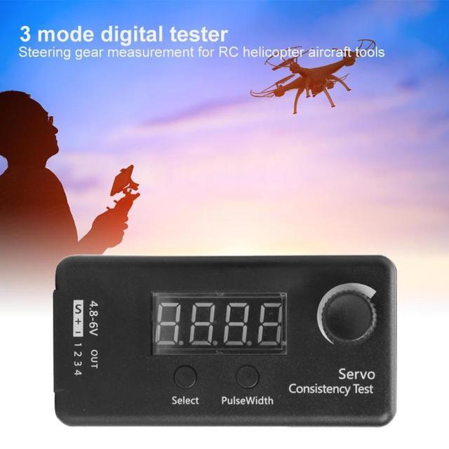 Servo probador de engranaje de dirección DC 4,8-6V 3 modos de consistencia Digital PPM medición precisa para Avión Helicóptero RC