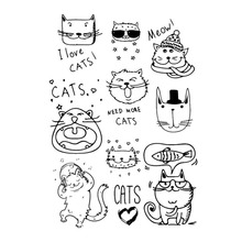 Cartoon cat Clear Rubber Stamps for DIY Scrapbooking Card Transparent Stamp Handmade Making Album Photo Crafts New Stamps Decor new scrapbook diy photo album cards butterfly style transparent acrylic silicone rubber clear stamps sheet handmade craft decor