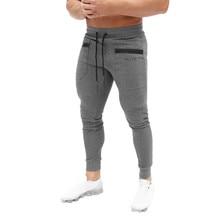Новые мужские джоггеры, однотонные мужские брюки, комбинезоны повседневные брюки, спортивные штаны для бега, повседневные эластичные спортивные тренажеры, фитнес-тренировки
