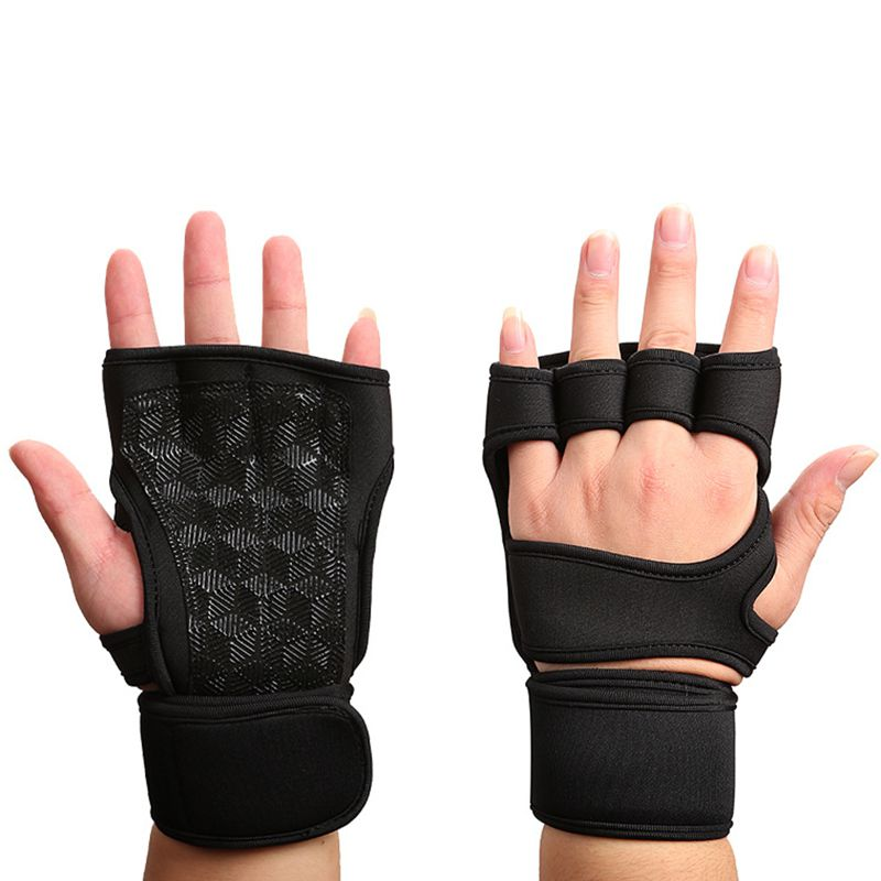 Women Gym Gloves Fingerless Workout Weightlifting Fitness Sports Ridding Gloves
