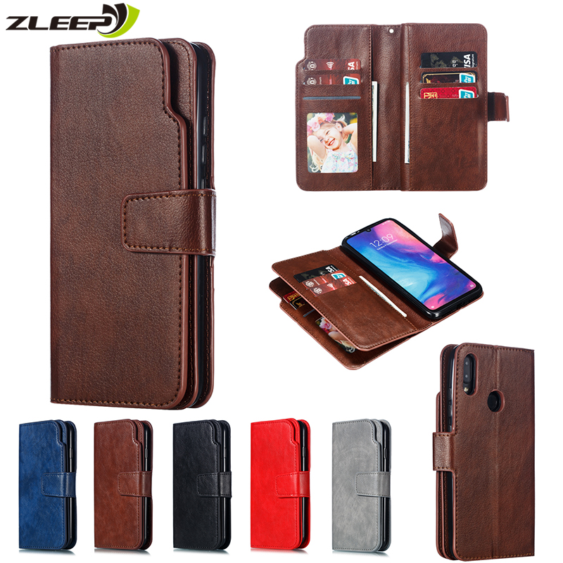 Luxury <font><b>Leather</b></font> Flip Wallet <font><b>Case</b></font> For <font><b>Xiaomi</b></font> Mi 8 9 9T CC9E CC9 A3 Lite <font><b>Redmi</b></font> 6 <font><b>6A</b></font> 7A 8A Note 7 8 Pro Card Stand <font><b>Phone</b></font> Cover Etui image