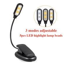 Лампа с зажимом и гибким рычагом 3 режима работы 360 ° 1000