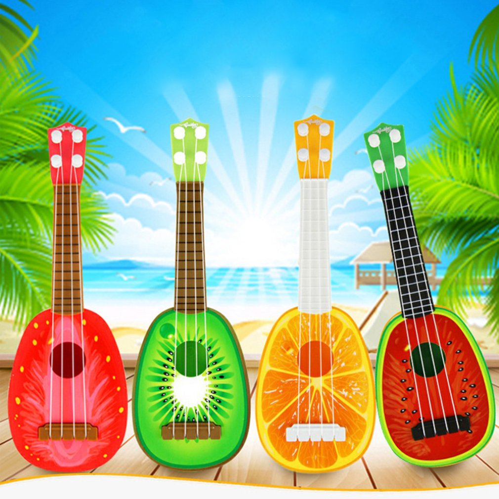Sensory Emotional Hearing Can Play Simulation Ukulele Mini Fruit Guitar Toy Child Early Education Music Toy Instrument