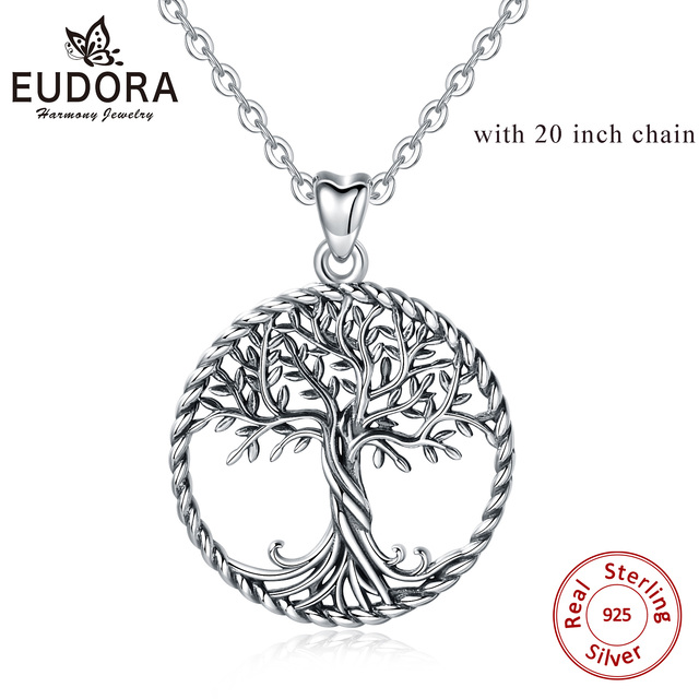 """charm 14 to 20/"""" necklace chain REAL 925 sterling silver tree of life pendant"""