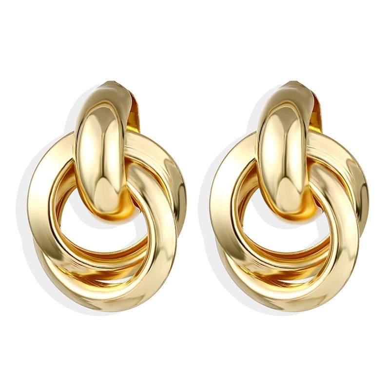 IPARAM, новинка, большие круглые серьги-кольца для женщин, модные, массивные, золотой, в стиле панк, очаровательные серьги, вечерние ювелирные изделия - Окраска металла: IPA0101-4