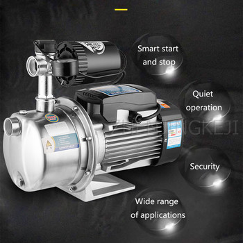 220V Stainless Steel Water Heater Booster Pump Home Use Self-Priming Mute Booster Pump Fully Automatic Pump Water Booster Pump 220v household automatic gas water heater solar water pumps water pressure booster pump boosting pumps120w