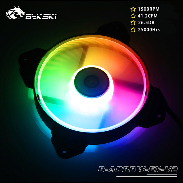 Bykski B APRBW FN V2 RBW 120mm Constant Cooling Fan / Cooler, Compatible With 120 / 240 / 360 / 480 mm Radiators