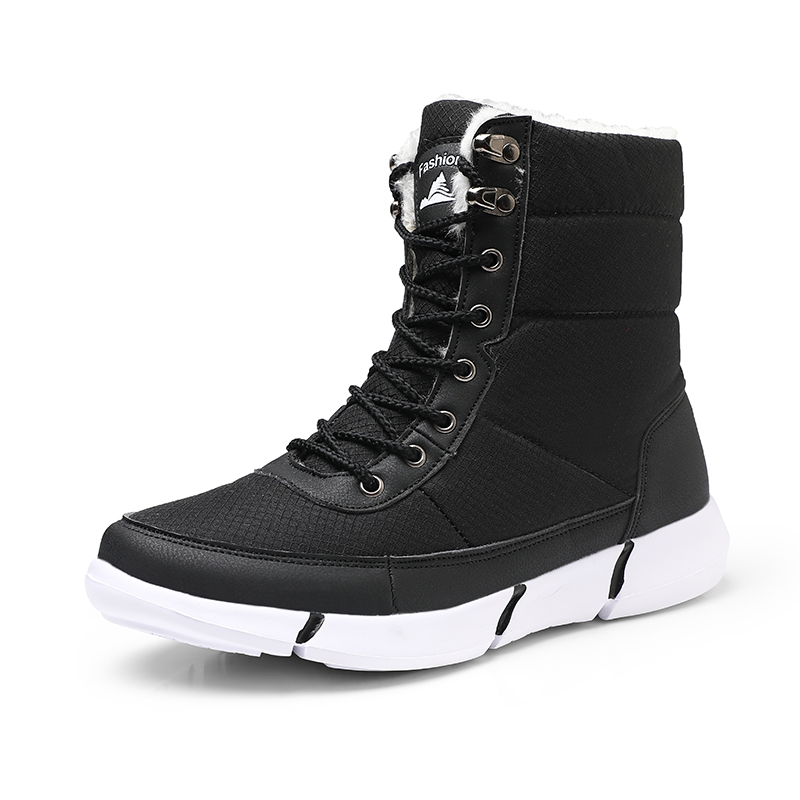 Men Boots 2019 New Winter Shoes For Men Warm Fur Waterproof Snow Boots Lightweight Winter Footwear Chaussure Homme Plus Size 48