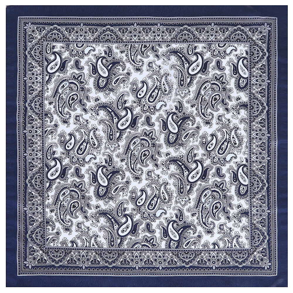 53cm Silk Square Scarves Women Brand Satin Paisley Bandanna Headband Neck Tie Band Neckerchief Turban