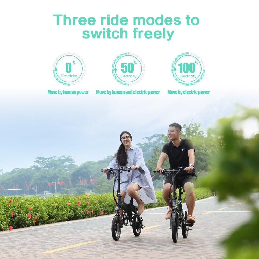 FIIDO D1 D2 D2s D3 D3s Smart 7.8AH/10.4A складной электрический велосипед мопед двойные дисковые тормоза светодиодный передний светильник для электровелосипеда - 6