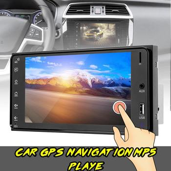 Car Radio 7''' HD Touch Screen Auto Radio Stereo Multimedia Audio Video GPS MP5 Player bluetooth FM Car Play for Toyota 2 Din image