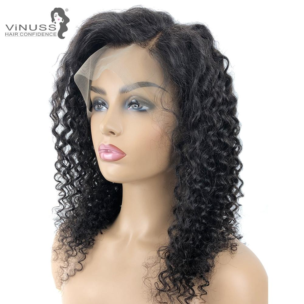 Kinky Curly Lace Front Human Hair Wigs Pre Plucked With Baby Hair Brazilian Remy Hair Lace Wig For Women Bleached Knots