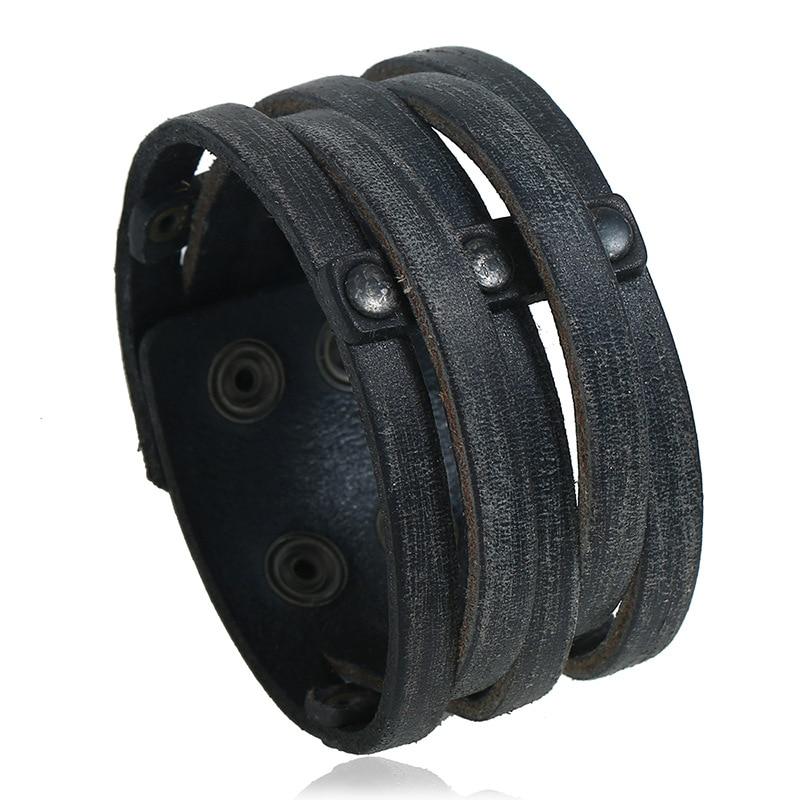 leather bracelet P01885-1