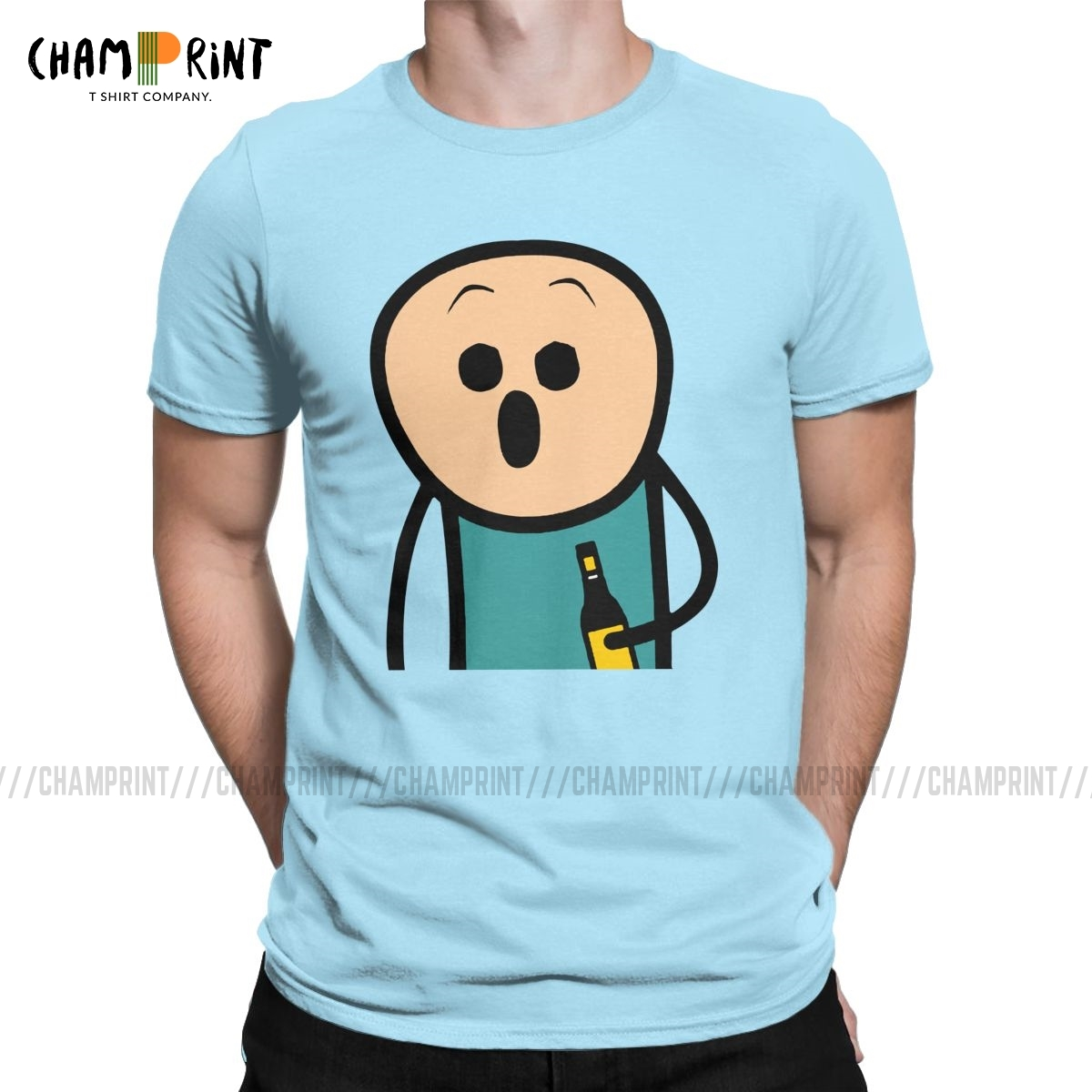 Men Joy Become Shock And Awe T Shirts The Cyanide & Happiness Show 100% Cotton Clothing Fashion Tee Shirt New Arrival T-Shirt image
