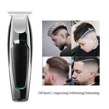 男性のためのプロのヘアトリマーひげトリマー男性のusb電気無精ひげエッジカミソリ可愛いマシンの毛のカット口ひげ顔