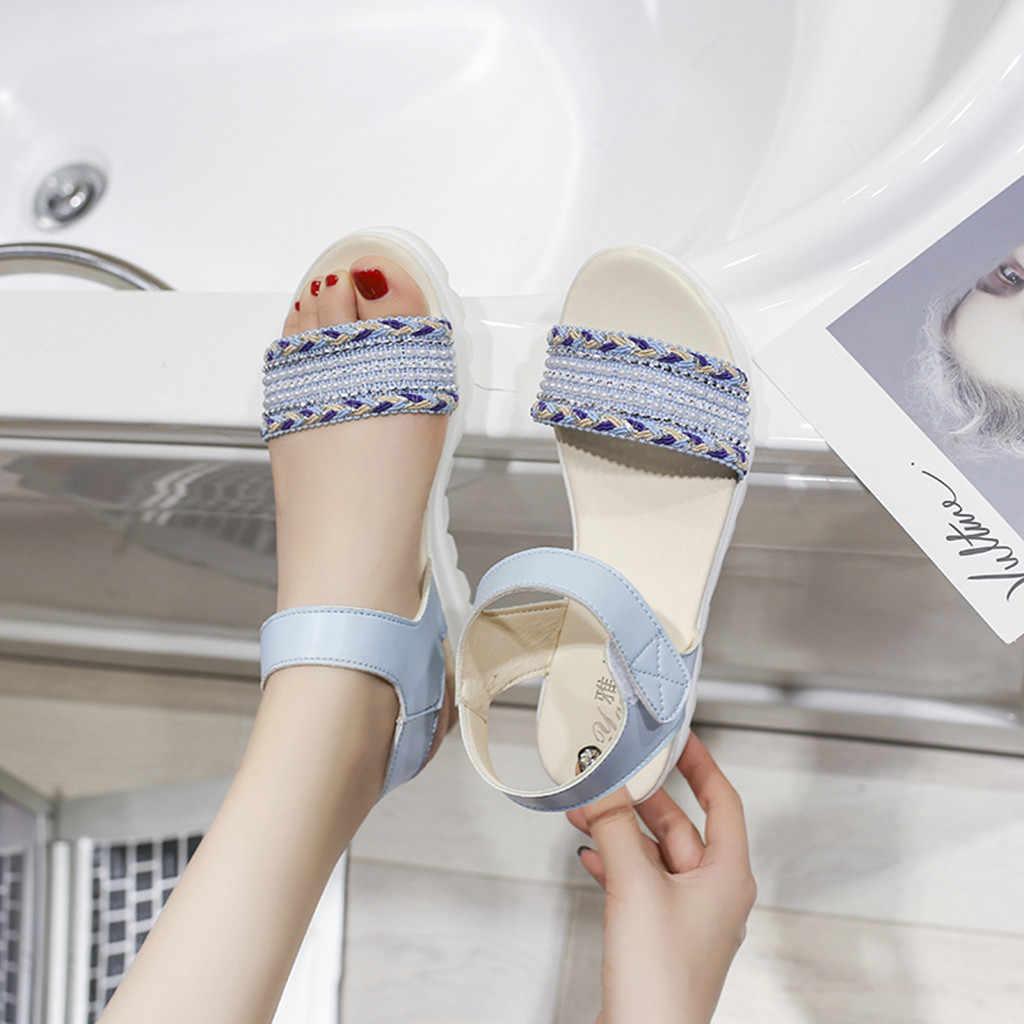 Frauen Casual Offene spitze Sandalen Mode Mädchen Schule Schuhe damen sandalen sommer sandalen frauen zapatos de mujer tacon wortspiel # G10