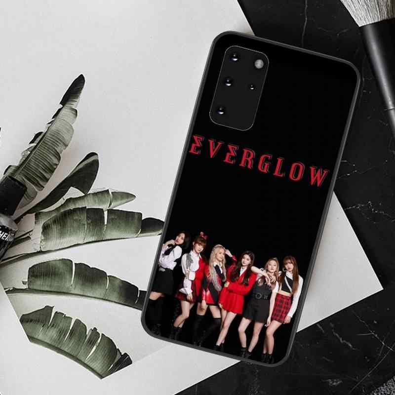 CUTEWANAN KPOP EVERGLOW Coque 쉘 전화 케이스 삼성 S20 plus Ultra S6 S7 edge S8 S9 plus S10 5G