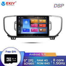 EKIY IPS 2Din Android 9.0 Car Radio DVD Multimedia Player For KIA Sportage 2016-2018 KX5 Stereo Bluetooth Autoradio GPS Navi
