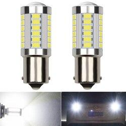 2X Canbus No Error 1156 P21W LED Bulb Daytime Running Lights DRL White 6000K For Volkswagen Passat B7 2011 2012 2013 2014 Nissan