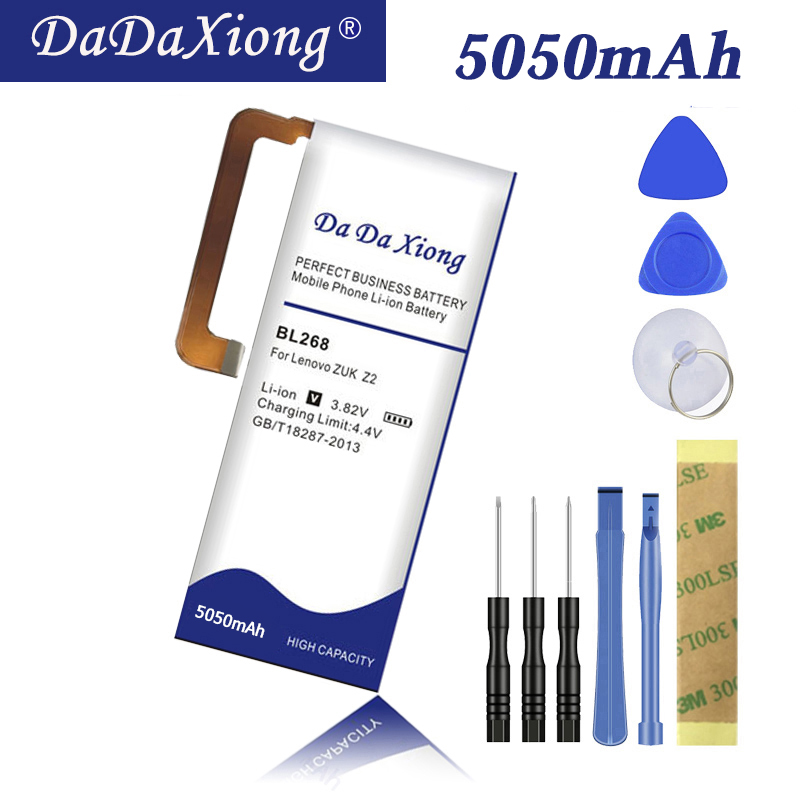 Da Da Xiong high capacity 5050mAh BL268 battery for Lenovo zuk Z2 Z2131 Cell phone Battery image