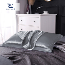 Liv-Esthete Luxury 100% Nature Mulberry Silk Silver Grey Pillowcase Queen King Healthy Skin Silky Pillow Case For Women Man Kids liv esthete luxury 100% nature mulberry silk sky blue pillowcase queen king healthy skin silky pillow case for women man kids
