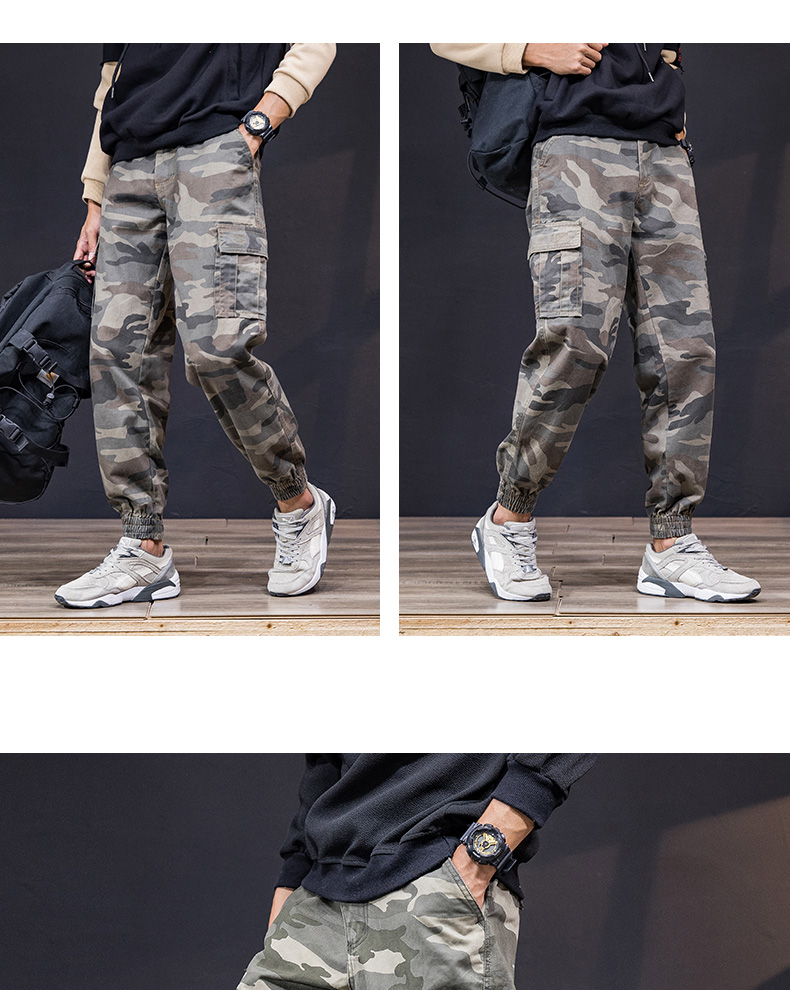 KSTUN Cargo Pants Men 100% Cotton Baggy Military Pants Khaki Camouflage Pants Casual Man Trousers Loose fit Streetwear Men Joggers 16