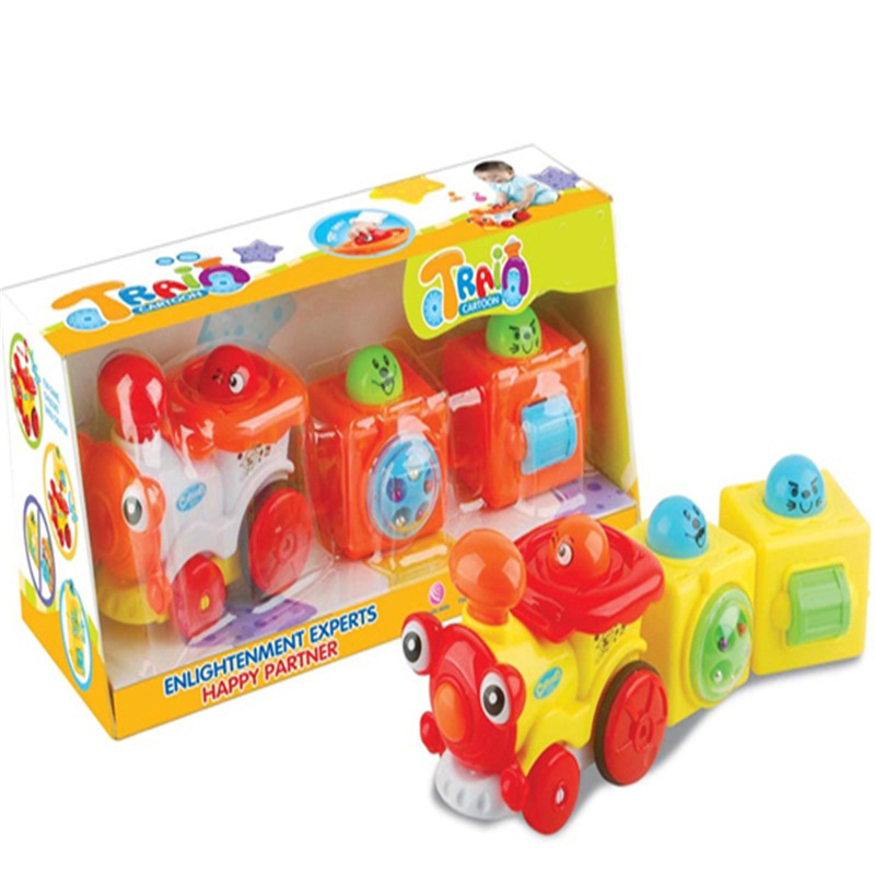 Children'S Educational Cartoon Toys Inertia Cartoon Locomotive Toy Car Model Supermarket Night Market Supply Of Goods Hot Sellin