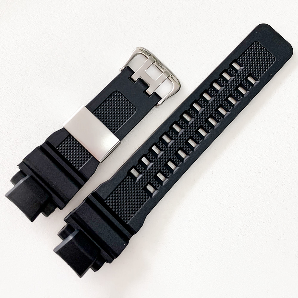 Black Silicone Stainless Steel Buckle Watchband For Casio G-SHOCK G-1400 GA-1000 GW-4000 GW-A1000 GW-A1100 Men Rubber Strap+Tool