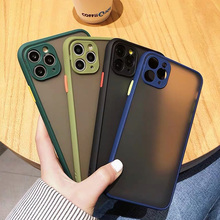 Stylish Hit Color Matte Camera Protection Hybrid Case for Cover iPhone 12 11 Pro Max SE 2 6 7 8 Plus X XR Xs Max Men Women Funda