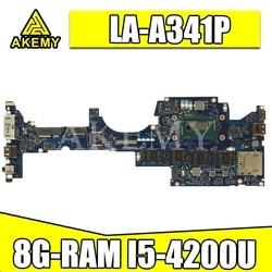 ZIPS1 LA-A341P płyta główna laptopa dla For Lenovo ThinkPad YOGA S1 oryginalna płyta główna 8G-RAM I5-4200U