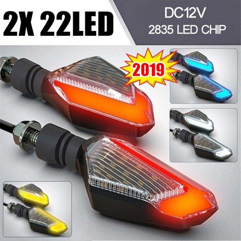 4pcs Universal Motorcycle LED Turn Signal Indicator 2835 Led Chip High Brightness Blinker Front Rear Signal Lamp Daytime Light
