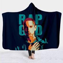 Eminem с рисунком персонажа одеяло капюшоном для взрослых Красочные