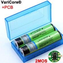 Varicore novo protegido 18650 ncr18650b 3400mah bateria recarregável 3.7v com pwb para baterias de lanterna elétrica